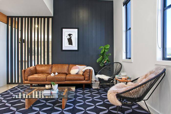 Dark Wall Living Room