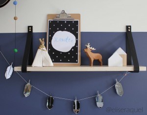 Leather Strap Shelf Boy's nursery