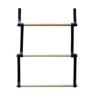 Black Leather Ladder Deep Etched