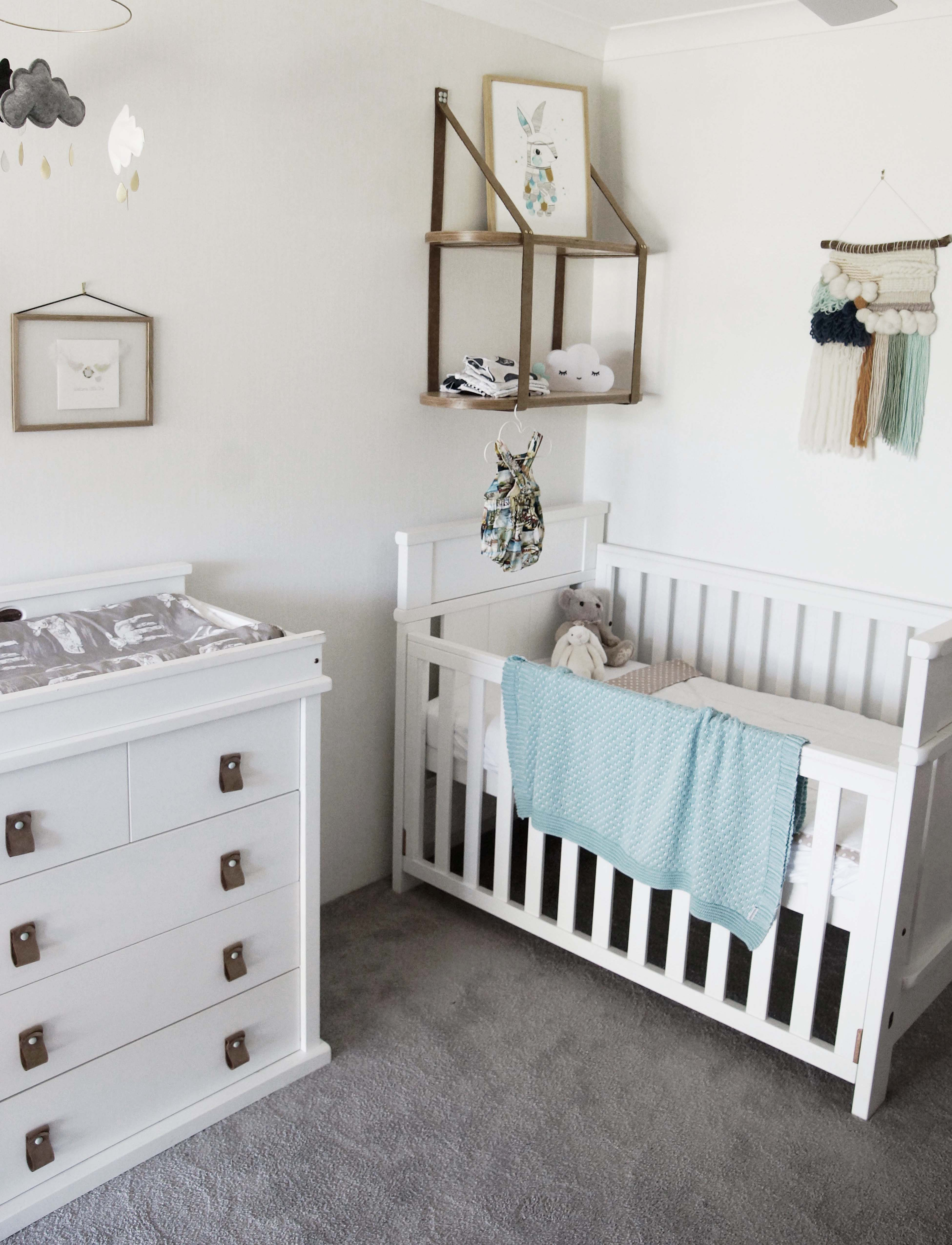 Nursery Design- Change Table, Shelves and Cot