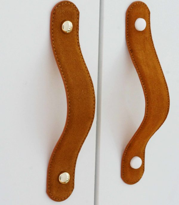 suede leather handle caramel