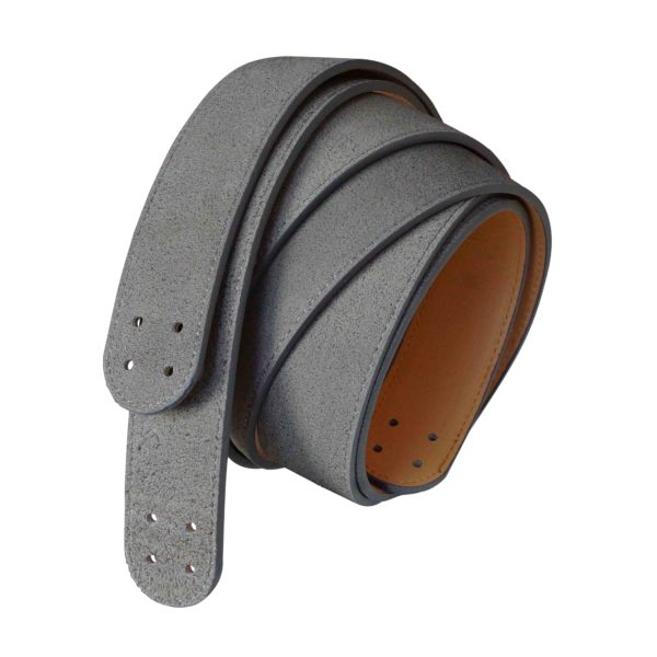 Grey Suede Strap Set Leather Strap Shelves