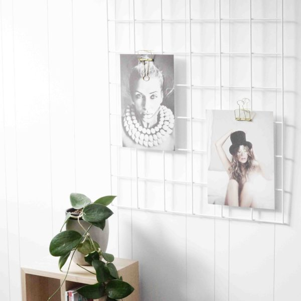 White Grid Mood Board