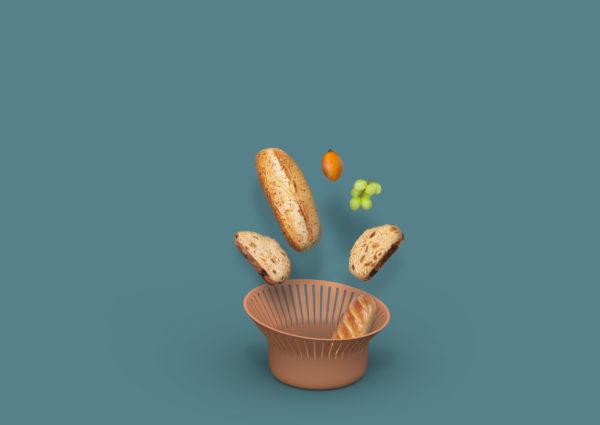 Ruff Bread Basket- terracotta