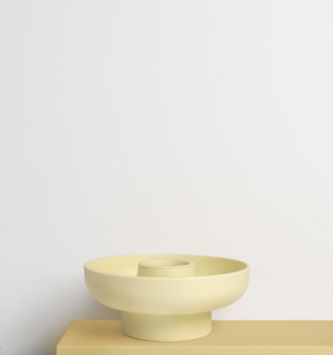 Yellow Hoop Serving Bowl
