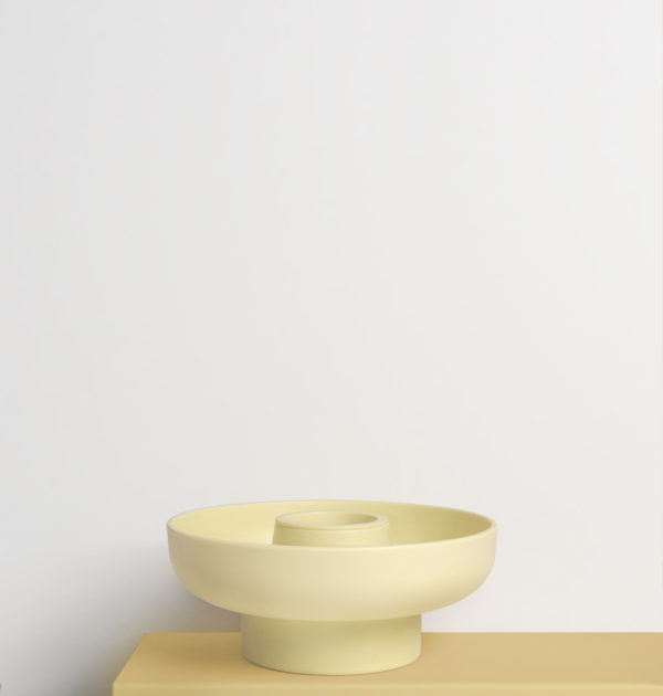 Yellow Hoop Serving Bowl