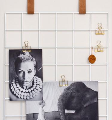 white grid mood board