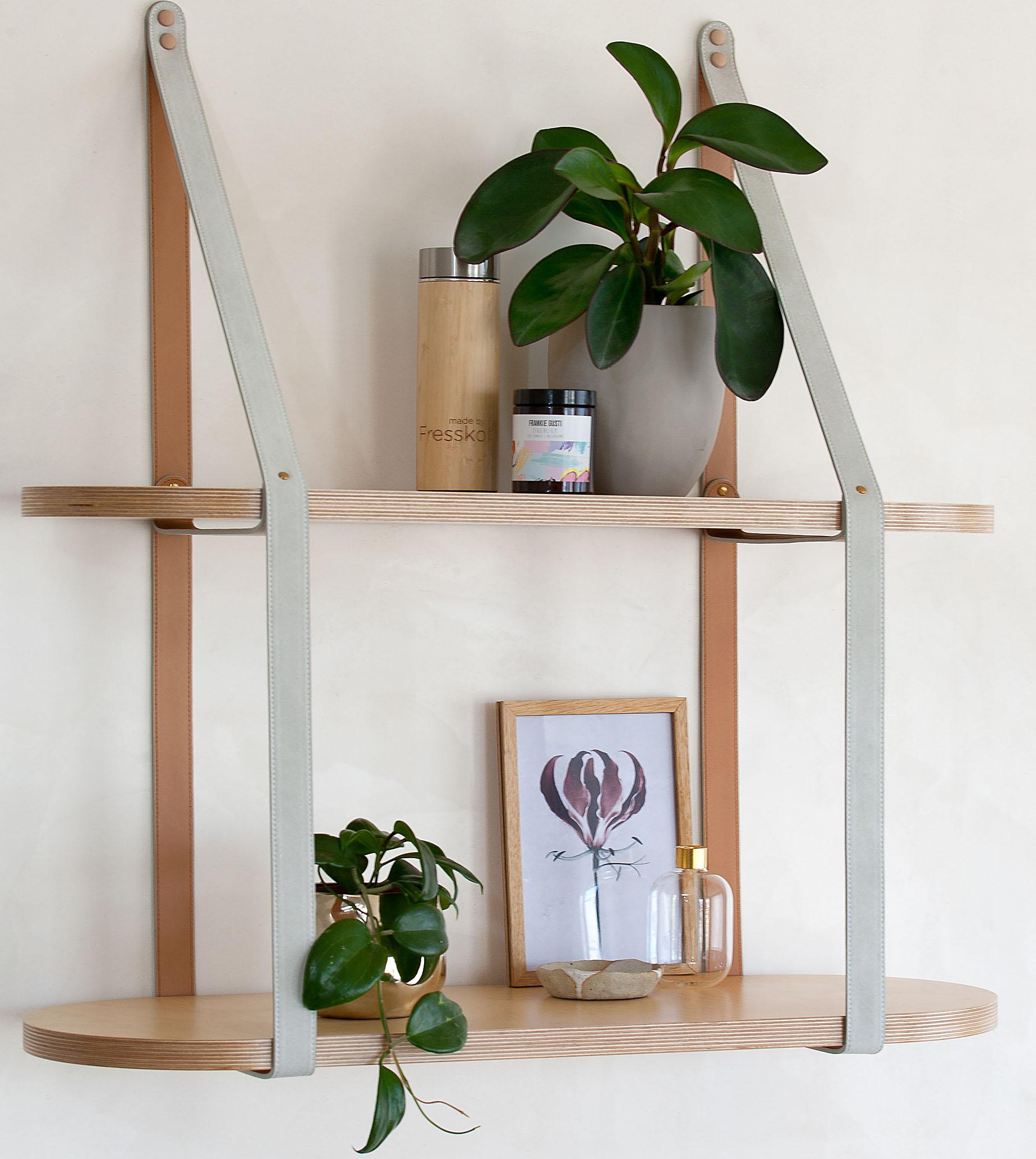 Round Leather Strap Shelf
