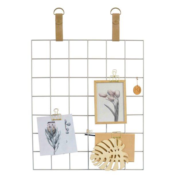 Grey Grid Mood Board