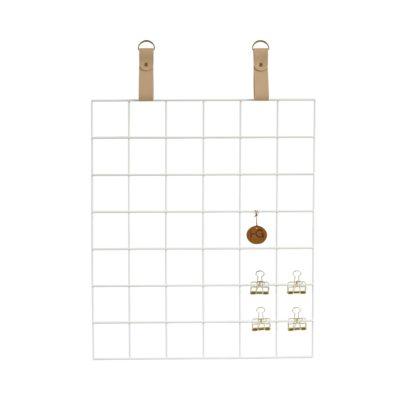 White Grid mood Board Nude Straps White Grid