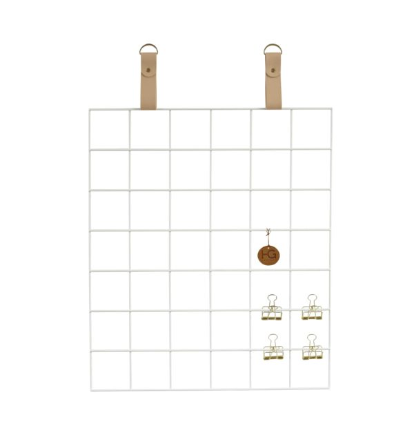 White Grid mood Board Nude Straps White Grid