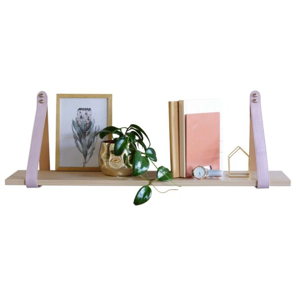 Pink and Tan Suede Nordic Shelf 2 LR