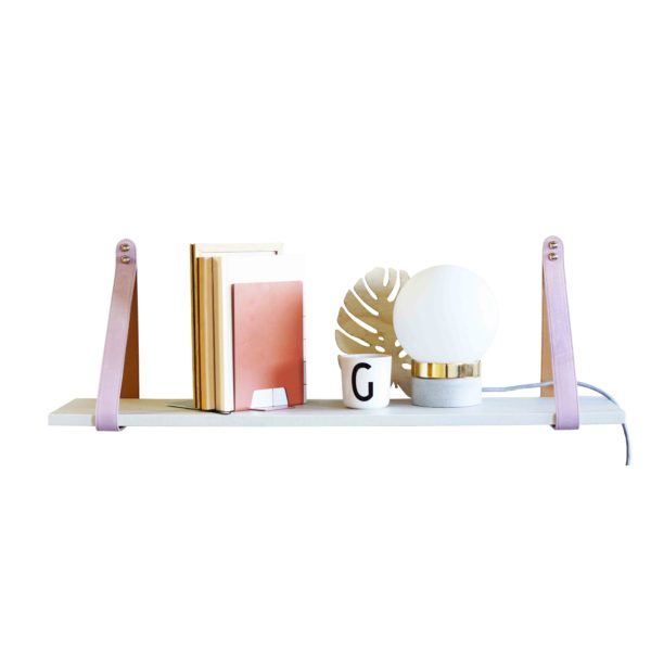 SLSP Pink and Tan Suede White Shelf 2 LR