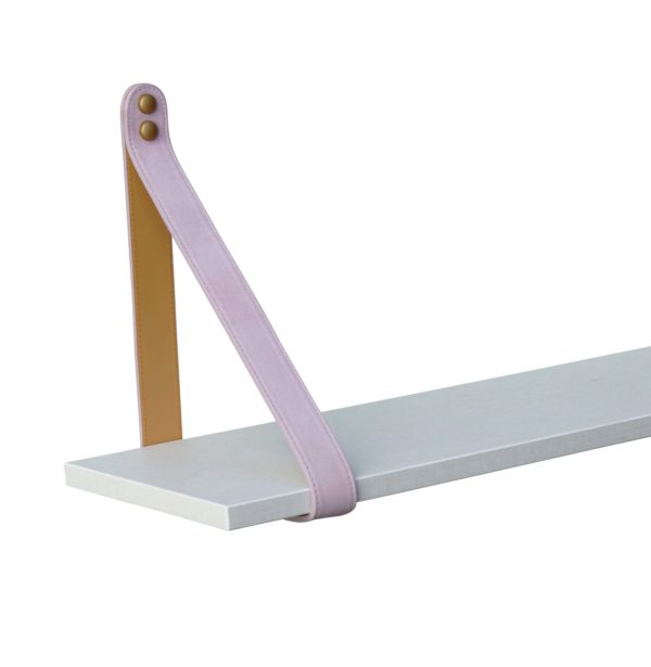 Pink Leather Strap Shelf