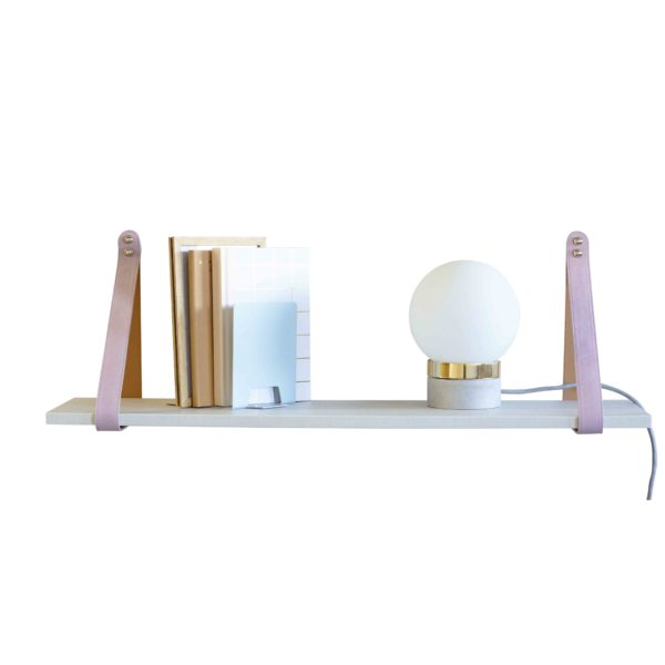 SLSP3 Pink and Tan Suede Linen Shelf 2 LR