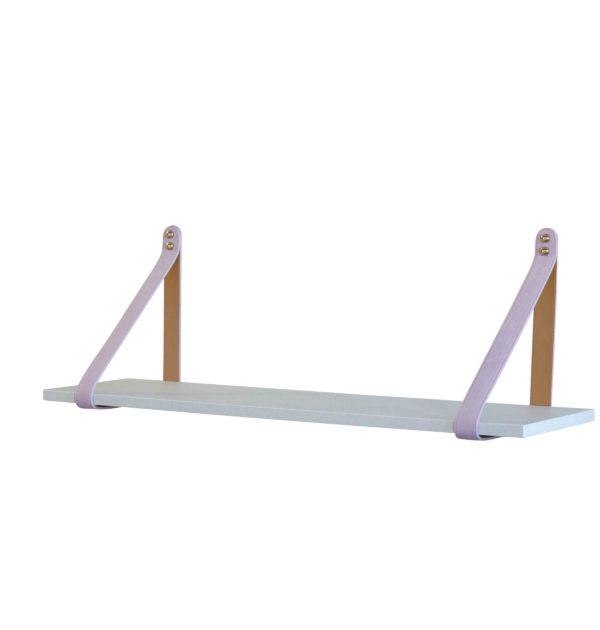 Pink Leather Strap Shelf