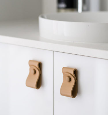 Nude Leather Pull Tab Nude Leather Handles Leather Cabinet Handles