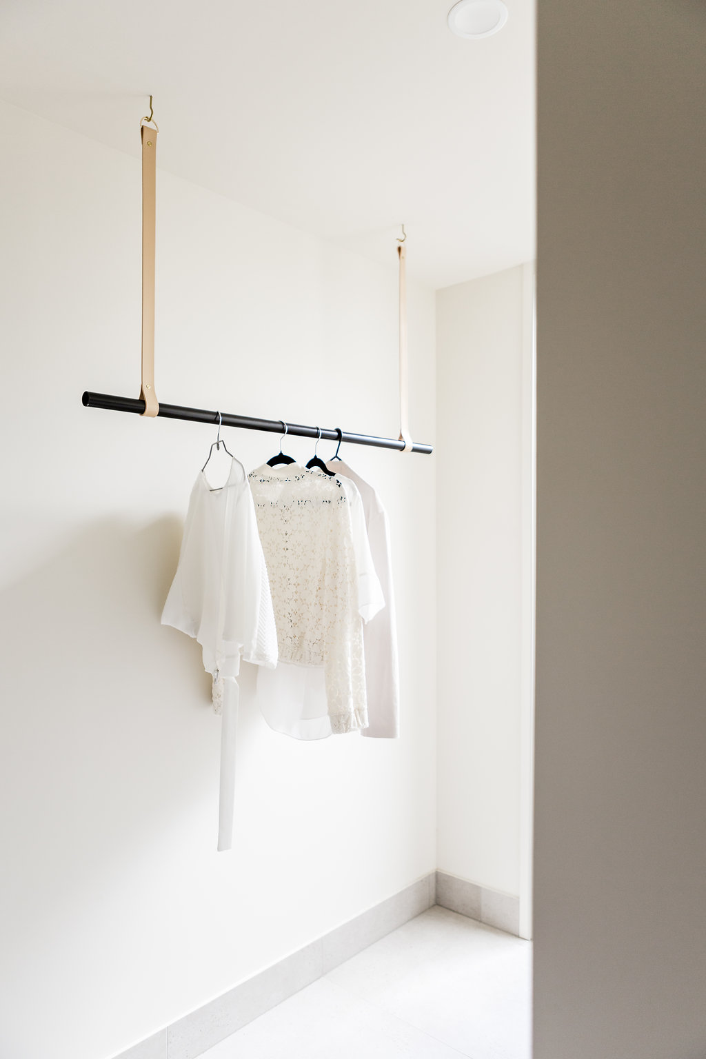 Leather Hanging Rail By H Amp G Designs Nude Leather Suede
