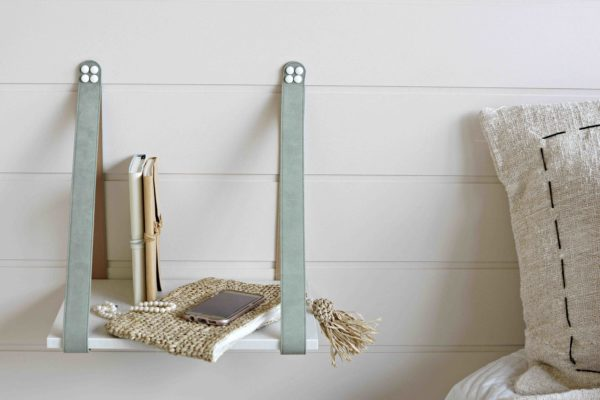 Sage and Tan Side Table Linen