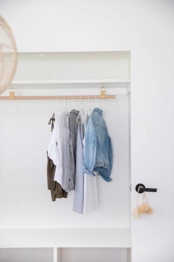 Leather Laundry Hanging Rail