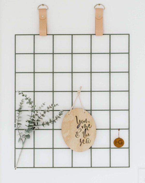 Moss Grid Mood Board Nude Straps Silver