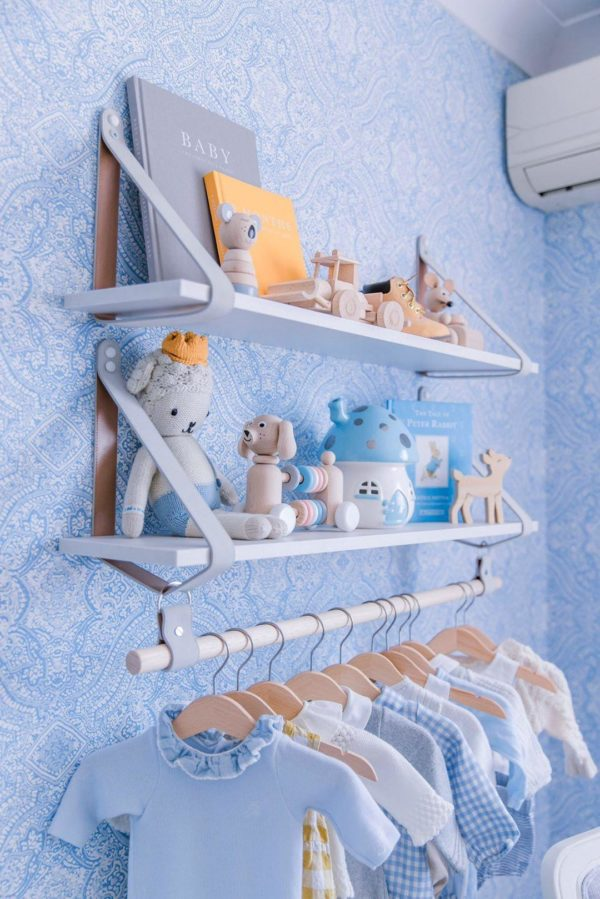 Hannah Polites Nursery Leather Strap Shelves