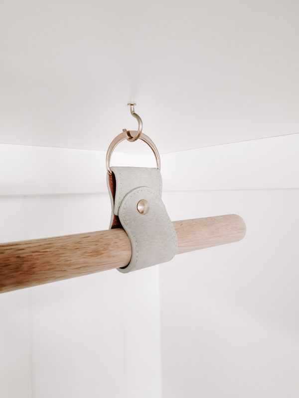 Wardrobe Leather Hanging Rail