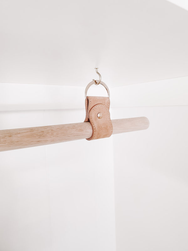 Biscuit Suede Leather Laundry Rail